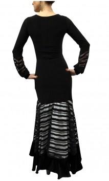 Adeline Striped Devouré Long-Dress