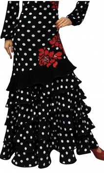 Gianna 6 Ruffles Long-Skirt w/Flowers