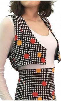 Polka dots Printed Mini-Vest