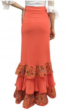 Printed Cora Collin Long-Skirt w/Scarf