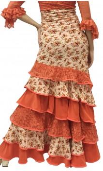 Long-skirt Leonor 6 Ruffles w/ Lace