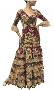 Violet Printed Long-Dress