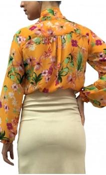 Printed CARMEN Crepe Leotard-Shirt