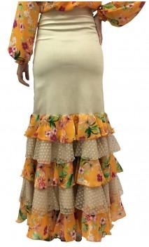 Printed Thereza Long-skirt 5 Ruffles