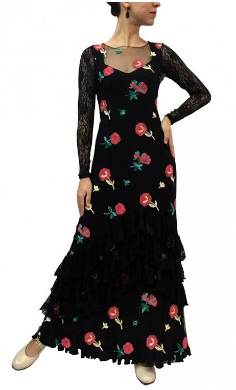 Vestido Paloma de Tule Bordado
