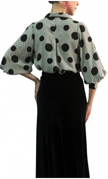 Grazi Viscose Polka-dots Shirt