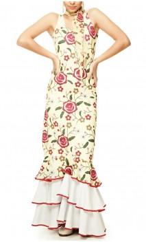 Gitana Long-Dress 3 Ruffles